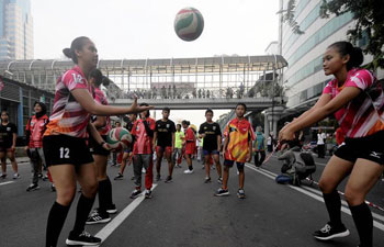 Asian Games Parade held in Indonesia