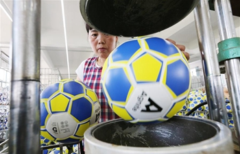 In pics: football workshop in Yudong, east China's Jiangsu