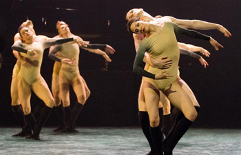 Ballet dancers perform in dress rehearsal of PianoPlays in Budapest