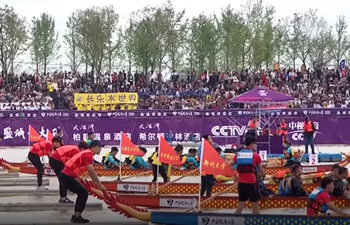 Rowers compete in 2018 Dragon Boat Tournament