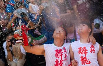 Macao holds traditional Drunken Dragon Festival