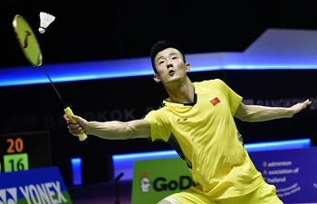 China's Chen Long, Indonesia's Anthony Sinisuka Ginting compete at BWF Thomas Cup 2018 semifinal