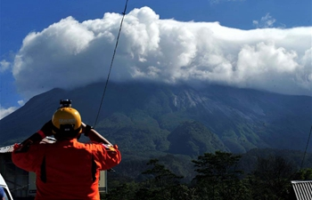 Indonesia's Mount Merapi spews ashes