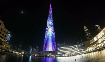 In pics: light show during Ramadan in Dubai
