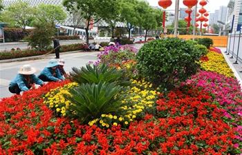 Blooming flowers add charm to coastal city Qingdao