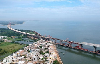 Puqian Bridge in Hainan scheduled for completion before 2019