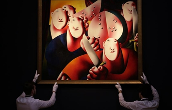 Christie's auction house Russian Art auction held in London, Britain