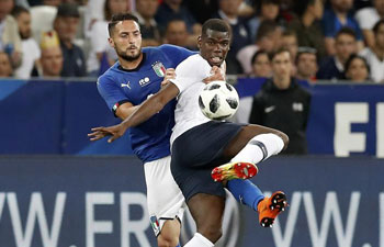 France defeats Italy 3-1 in World Cup warm-up