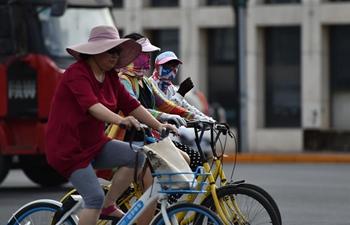 Temperature breaks through 40 degrees celsius in N China's Tianjin