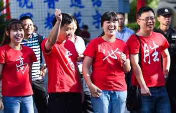 In pics: first day of China's national college entrance examination