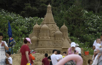 Exhibition of sand sculpture to meet public soon in China's Zhejiang