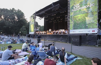 New York Philharmonic holds free outdoor concert