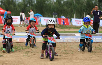 Balance bike contest held in north China's Hebei