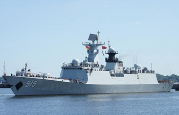 "Chinese frigate ""Binzhou"" visits military port of Kiel in Germany"