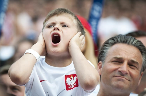 Polish football fans watch World Cup in Warsaw