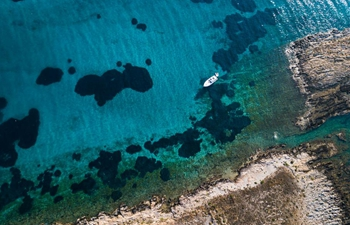 Aerial view of coastline of East Attica, Greece