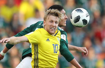Sweden top Group F after beating Mexico 3-0