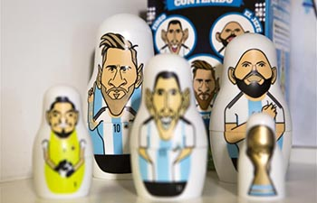 "In pics: ""argentinushkas"" dolls of Argentina's national soccer team"