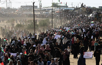 Thousands of Palestinian women rally against Israel in eastern Gaza