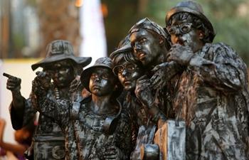 International Festival of Living Statues held in Rehovot, Israel