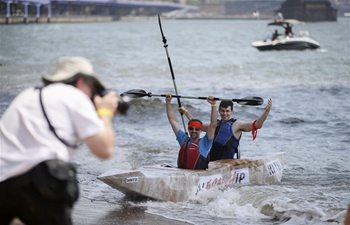 Cardboard boat competition held in New York