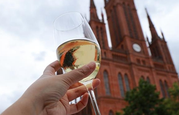 43rd Rheingau Wine Festival held in Wiesbaden, Germany