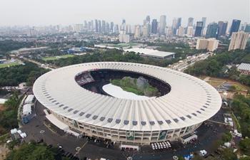 Aerial view of Gelora Bung Karno (GBK) Main Stadium in Jakarta