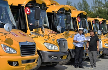 Safety checks conducted on school buses for upcoming new semester