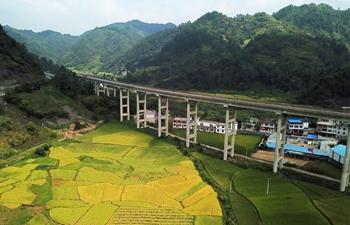 Scenery along Lanzhou-Haikou Expressway in China's Guizhou