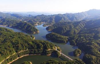 Scenery of Taiyang Lake in southwest China's Chongqing