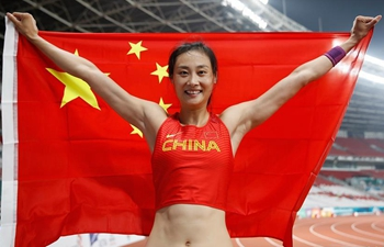 China's Li Ling wins gold of women's pole vault at Asian Games