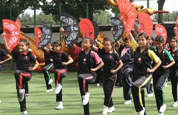 Nepalese children attend martial art training program in Kathmandu