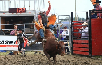 Rodeo show of 2018 Int'l Plowing Match and Rural Expo held in Canada