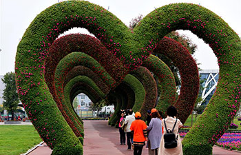 Trade fair for flowers, trees held in central China's Xuchang
