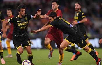 Rome beats Frosinone 4-0 in Italian Serie A soccer match