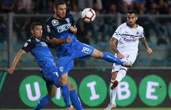 AC Milan draws with Empoli in Italian Serie A soccer match