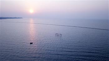 Scenery of Chaohu Lake in E China's Anhui