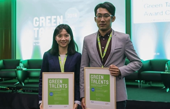 Spotlight: 2 Chinese scientists win Germany's Green Talents Award