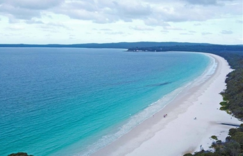 Scenery of Hyams Beach at Jervis Bay, Australia