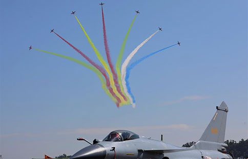 Aerobatic teams perform at Airshow China in Zhuhai