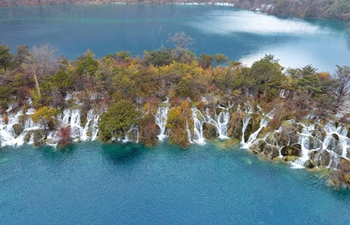 Scenery of Jiuzhaigou National Park in China's Sichuan