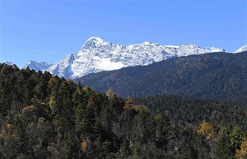 Scenery of Yulong snow mountains in Lijiang, SW China's Yunnan