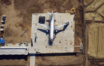 Pic story: villager builds full size plane model in NE China's Liaoning