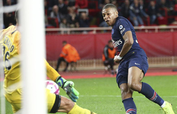 PSG rout Monaco to stay perfert in Ligue 1