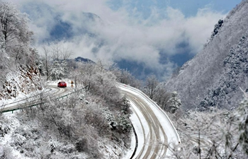In pics: snow scenery in central China's Hubei