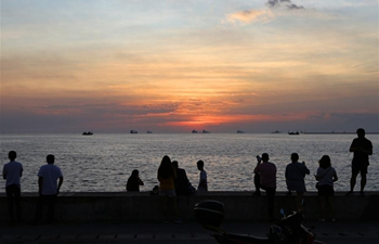 Sunset scenery in Manila, the Philippines