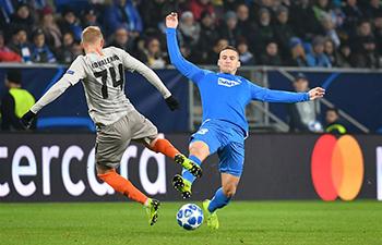 UEFA Champions League: Shakhtar Donetsk beats Hoffenheim 3-2