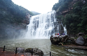 Scenery of Chishui waterfall in China's Guizhou