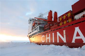 China's research icebreaker Xuelong arrives in Zhongshan station in Antarctica