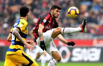 AC Milan beats Parma 2-1 in Italian Serie A